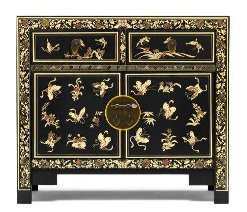 Black Decorated Sideboard